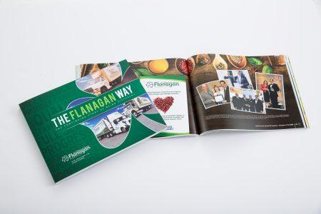 company history book, corporate history book, company anniversary book marking 40 years of Flanagan Foodservice