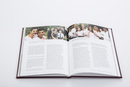 company anniversary book, business anniversary book, legacy book, and life story book marking 50 years of Barzotti Kitchens