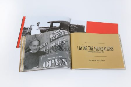 This company anniverary book selection by Canadian corporate history agency Historical Branding Solutions captures the legacy of the founders of Erb Transport and Grand Valley Fortifiers.