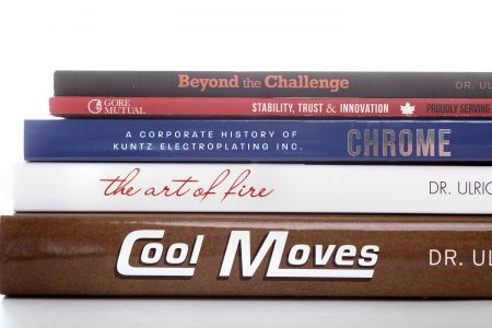 Company history books and company anniversary books created by leading North American corporate history agency Historical Branding Solutions Inc., leading agency for 2020 company anniversary book publications