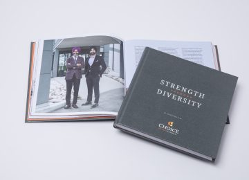 Franchisee story book and franchise company anniversary book for Choice Hotels Canada by corporate history book publisher and business history books publishing house Historical Branding Solutions Inc.