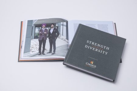 Cover and inside spread of Franchisee story book specifally designed by Historical Branding Solutions Inc. as a custom corporate history book and company anniversary book solution for franchise companies